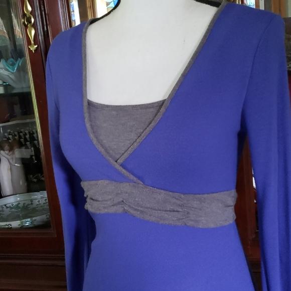 BONGO Dresses & Skirts - Bongo Blue/Gray Stretch Dress with Back Tie M